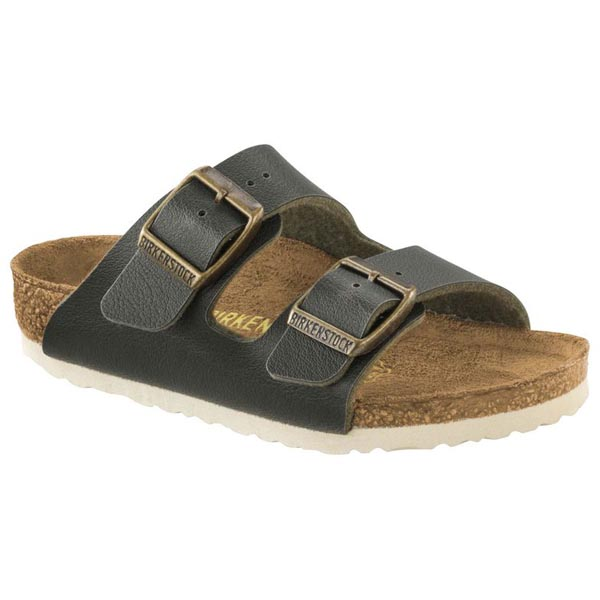 BIRKENSTOCK Arizona Kids Fashion Pull Up Green Birko-Flor Outlet Store