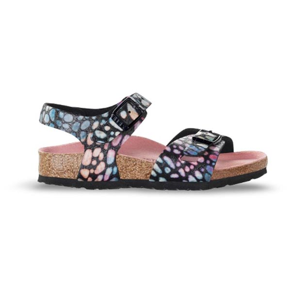 BIRKENSTOCK Rio Kids Magic Stones Black Birko-Flor Outlet Store