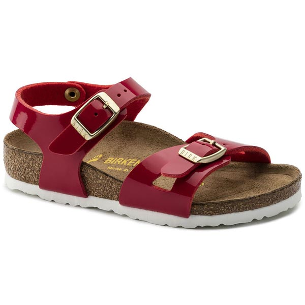 BIRKENSTOCK Rio Kids Tango Red Patent Birko-Flor Patent Outlet Store