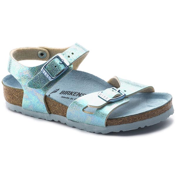BIRKENSTOCK Rio Kids Reflection Blue Birko-Flor Outlet Store