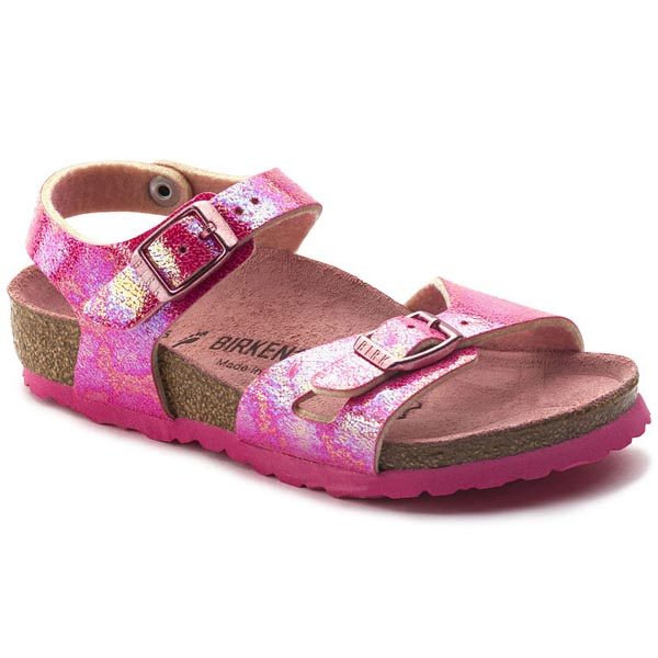 BIRKENSTOCK Rio Kids Reflection Rasberry Birko-Flor Outlet Store