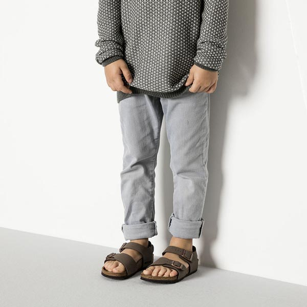 BIRKENSTOCK New York Kids Mocha Birkibuc Outlet Store