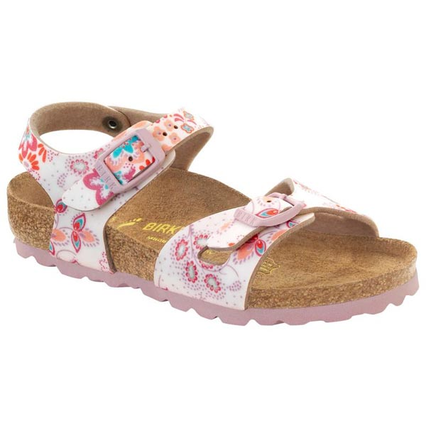 BIRKENSTOCK Rio Kids Cute Flowers Rose Birko-Flor Outlet Store