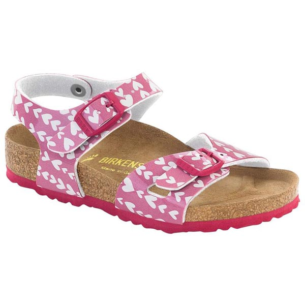 BIRKENSTOCK Rio Kids Cute Hearts Rose Birko-Flor Outlet Store