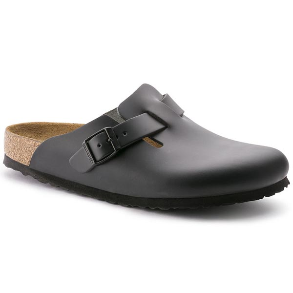BIRKENSTOCK Boston Black Natural Leather Outlet Store