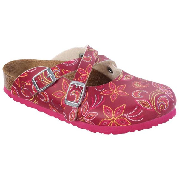 BIRKENSTOCK Dorian Kids Flower Points Red Birko-Flor Outlet Store