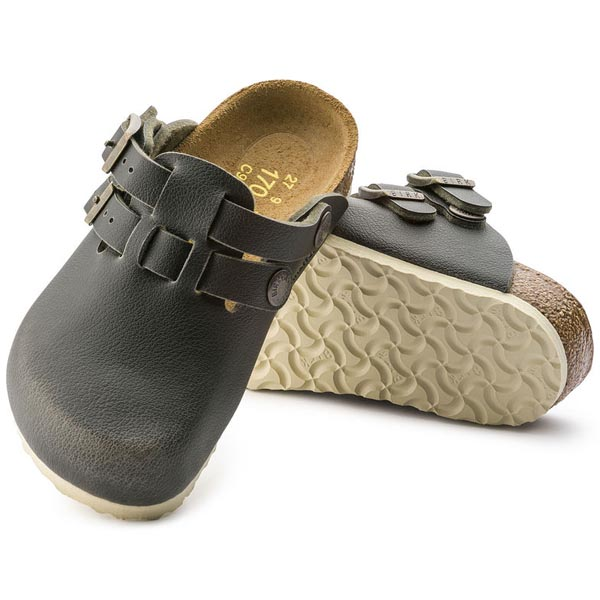 BIRKENSTOCK Kay Kids Fashion Pull Up Green Birko-Flor Outlet Store