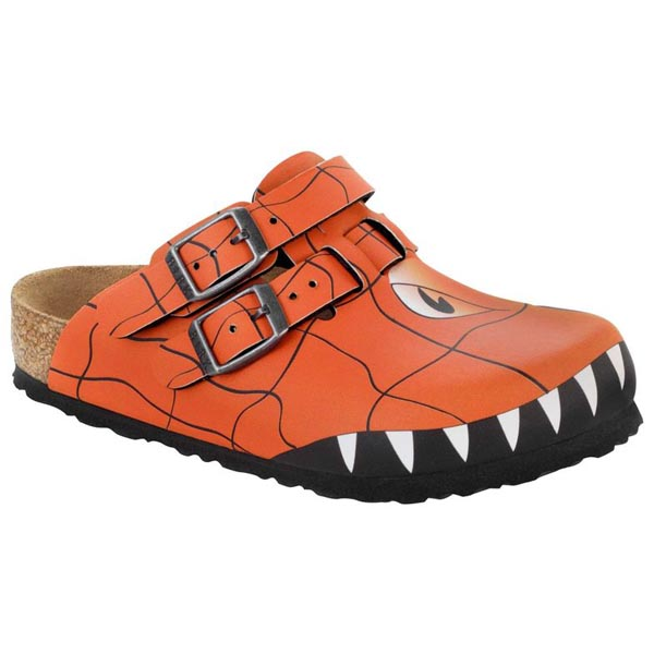 BIRKENSTOCK Kay Kids Monster Head Orange Birko-Flor Outlet Store