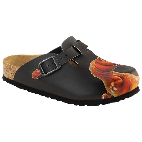 BIRKENSTOCK Boston Kids Good Dinosaur Black Birko-Flor Outlet Store