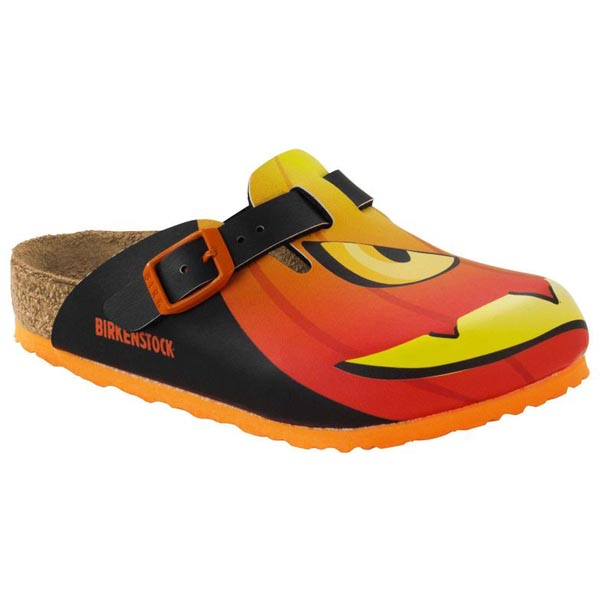 BIRKENSTOCK Boston Kids Halloween Pumpkin Black Birko-Flor Outlet Store