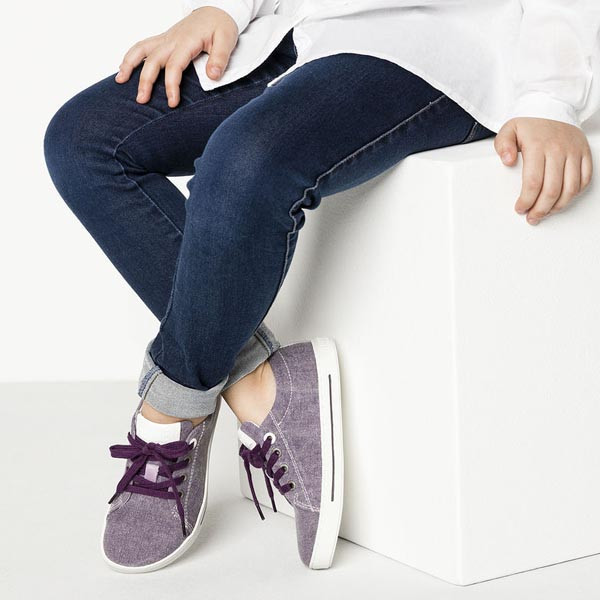 BIRKENSTOCK Arran Kids Purple Textile Outlet Store