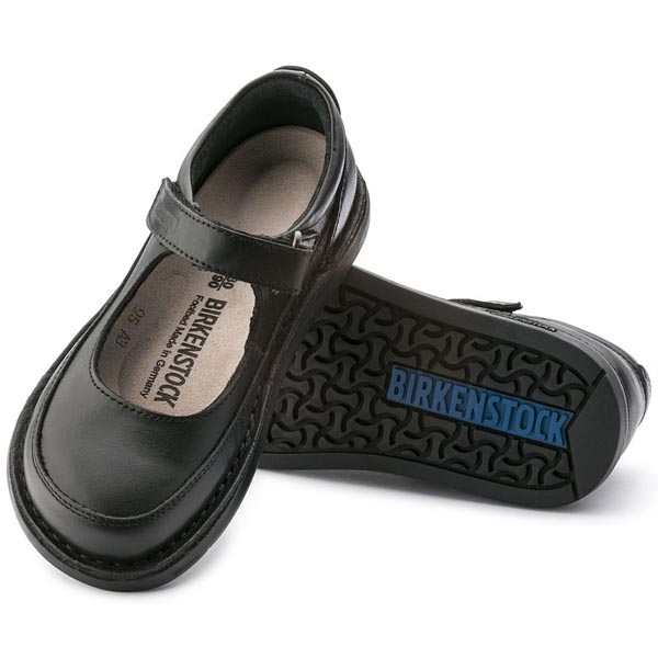 BIRKENSTOCK June Black Natural Leather Outlet Store