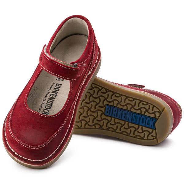 BIRKENSTOCK June Red Suede Outlet Store