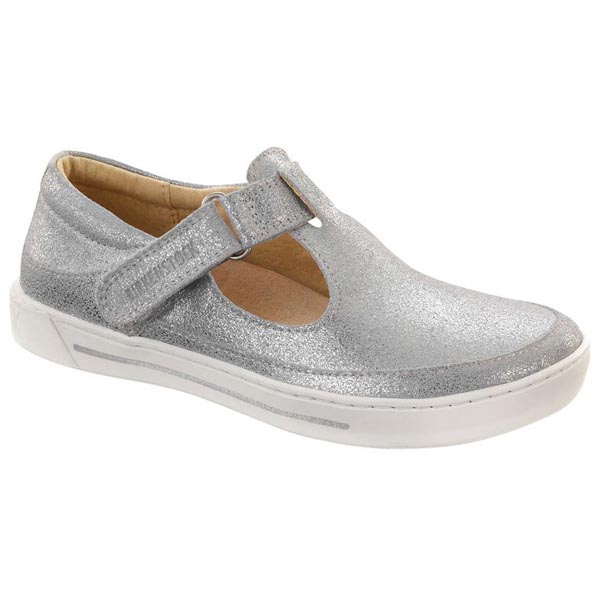 BIRKENSTOCK Abilene Metallic Silver Leather Outlet Store
