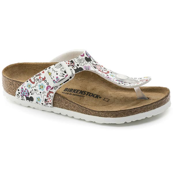 BIRKENSTOCK Gizeh Kids Lovely Minnie White Birko-Flor Outlet Store