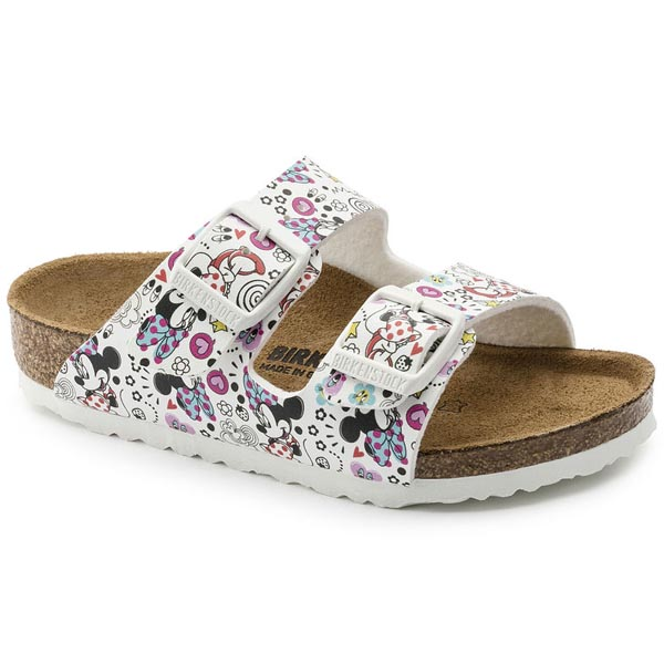 BIRKENSTOCK Arizona Kids Lovely Minnie White Birko-Flor Outlet Store