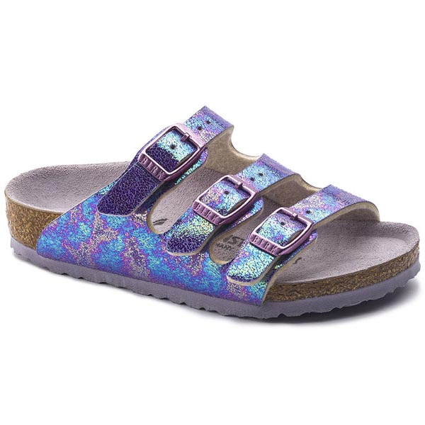 BIRKENSTOCK Arizona Kids Reflection Lilac Birko-Flor Outlet Store