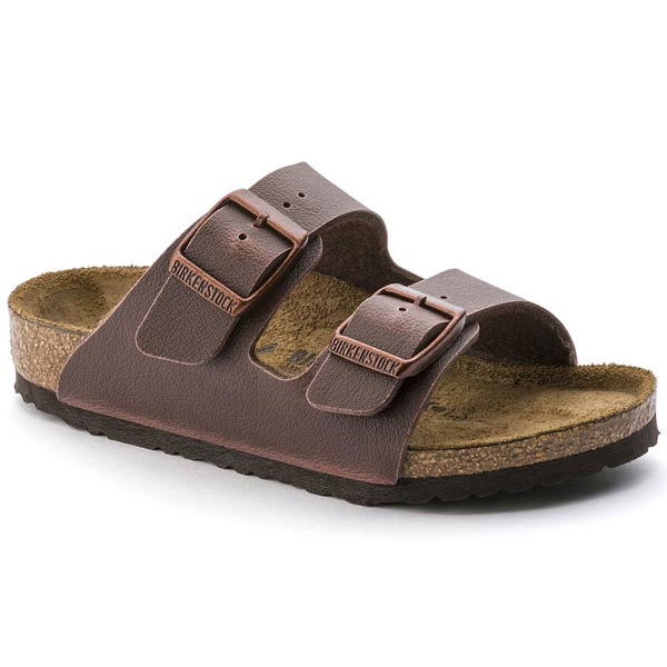 BIRKENSTOCK Arizona Kids Fashion Pull Up Brown Birko-Flor Outlet Store
