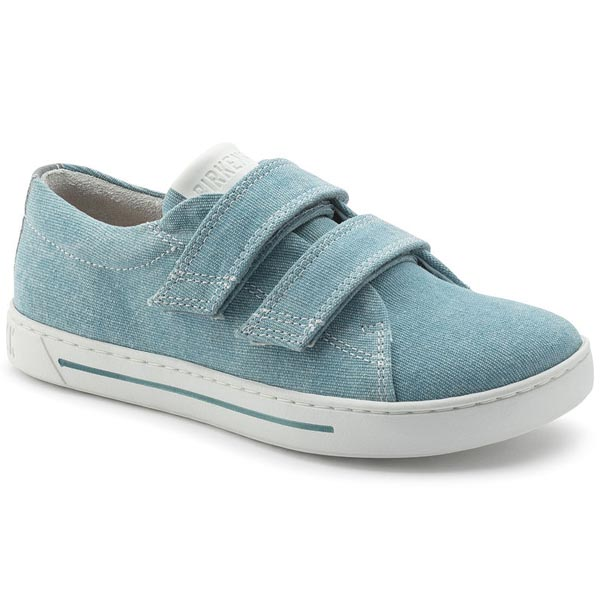 BIRKENSTOCK Arran Kids Velcro Light Blue Textile Outlet Store