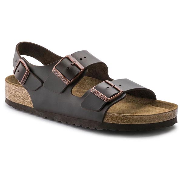 BIRKENSTOCK Milano Soft Footbed Amalfi Brown Leather Outlet Store