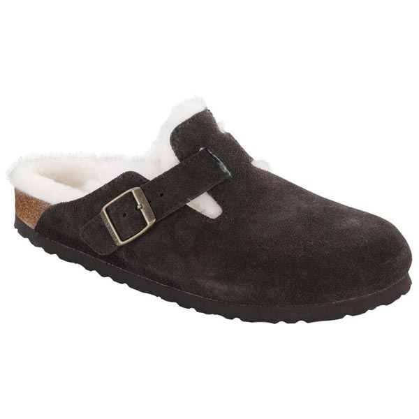 BIRKENSTOCK Boston Shearling Lined Mocha hearling/Suede Outlet Store