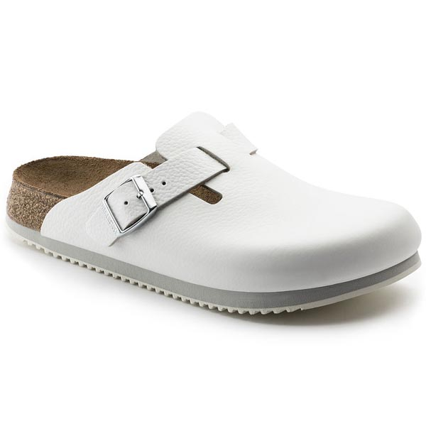 BIRKENSTOCK Boston White Natural Leather Outlet Store