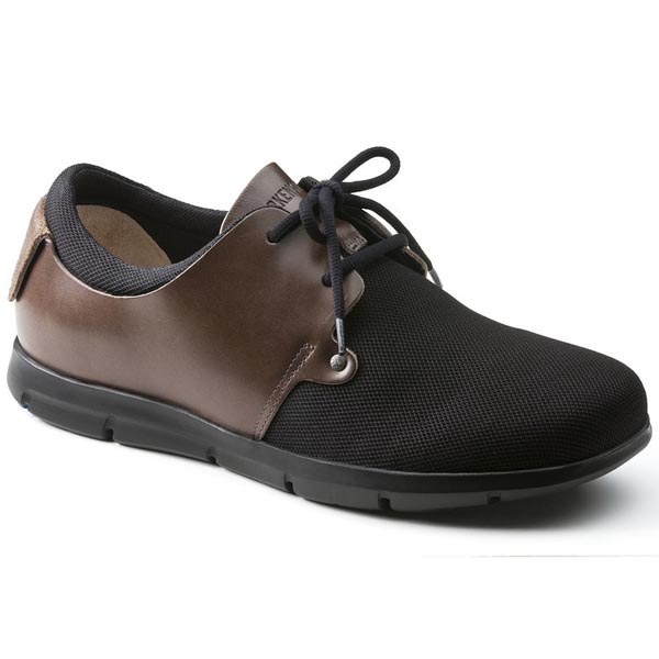 BIRKENSTOCK Minot Men Black Natural Leather/Textile Outlet Store