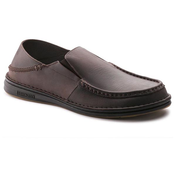 BIRKENSTOCK Duma Men Dark Brown Leather Outlet Store