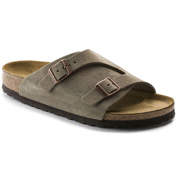 BIRKENSTOCK Zürich Taupe Suede Leather Outlet Store
