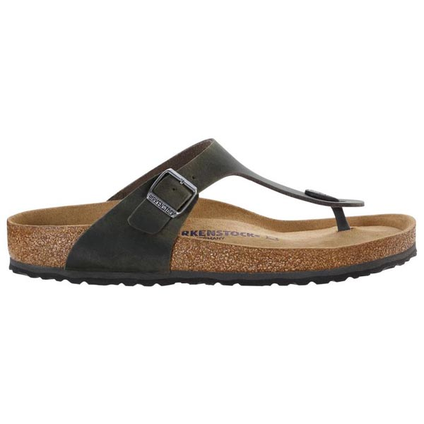 BIRKENSTOCK Gizeh Soft Footbed Iron Oiled Leather Outlet Store
