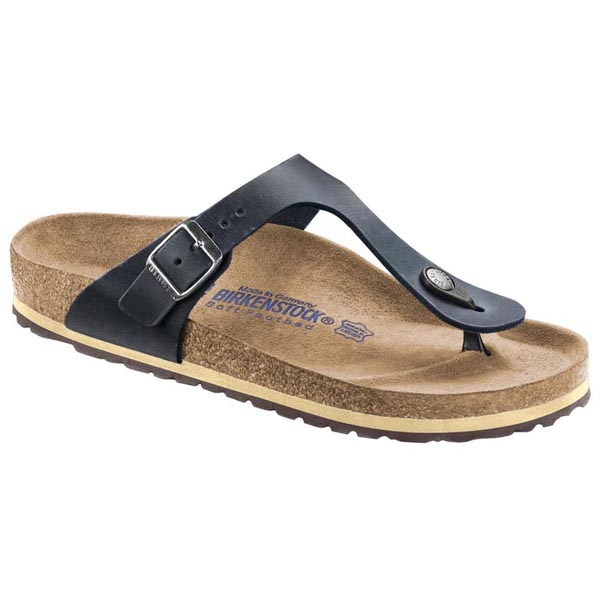BIRKENSTOCK Gizeh Soft Footbed Antik Dark Blue Oiled Leather Outlet Store