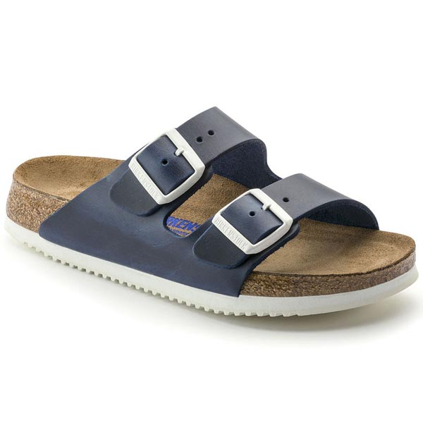 BIRKENSTOCK Arizona Blue Natural Leather Soft footbed Outlet Store