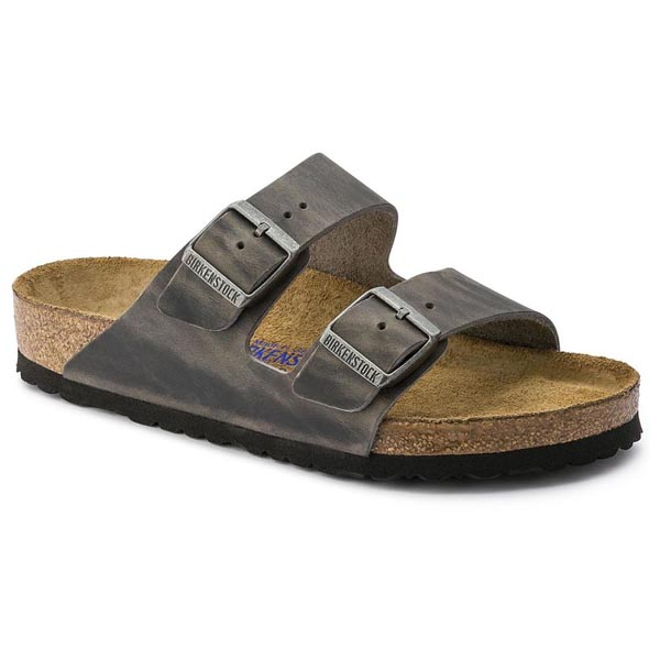 BIRKENSTOCK Arizona Iron Oiled Leather Soft footbed Outlet Store