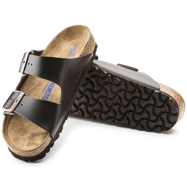 BIRKENSTOCK Arizona Brown Smooth Leather Soft footbed Outlet Store