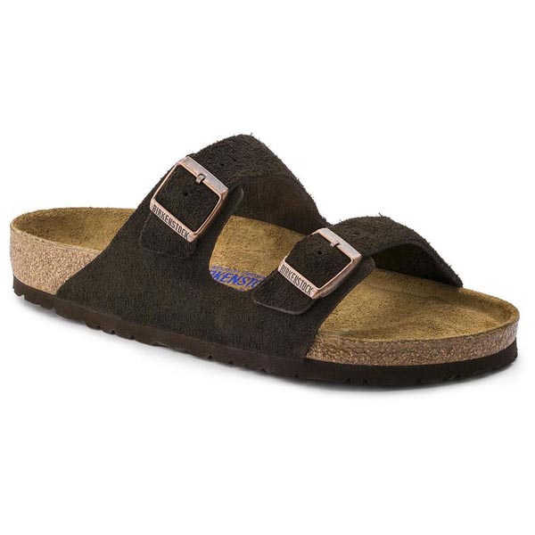 BIRKENSTOCK Arizona Mocha Suede Leather Soft footbed Outlet Store
