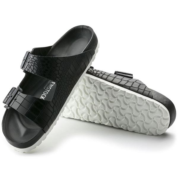 BIRKENSTOCK Arizona Exquisite Croco Black Exquisite Leather Outlet Store