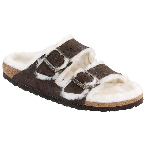 BIRKENSTOCK Arizona Shearling Lined Mocha Shearling/Suede Outlet Store