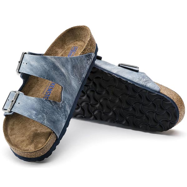 BIRKENSTOCK Arizona Soft Footbed Jeans Washed Out Blue Birko-Flor Outlet Store