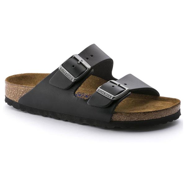BIRKENSTOCK Arizona Soft Footbed Amalfi Black Leather Outlet Store