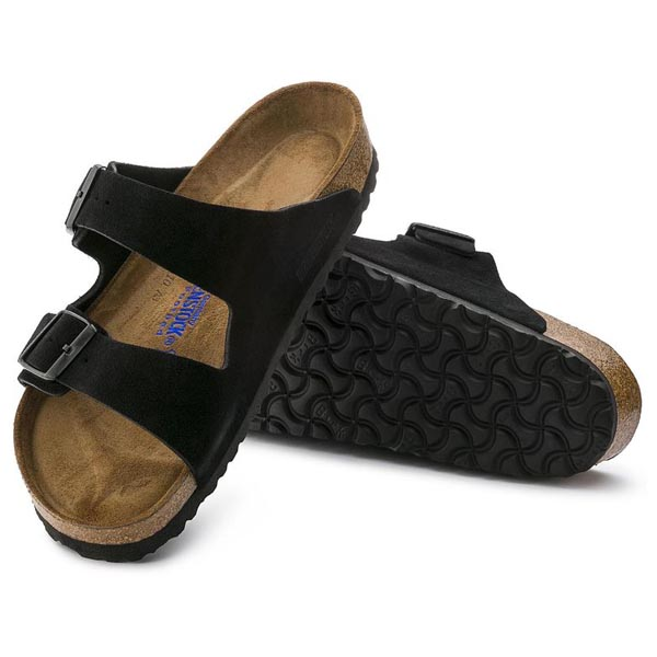 BIRKENSTOCK Arizona Soft Footbed Black Suede Outlet Store