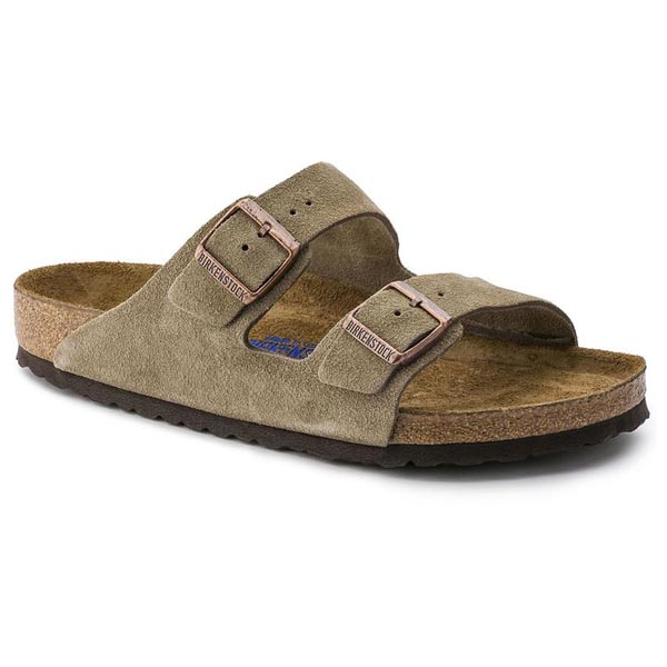 BIRKENSTOCK Arizona Soft Footbed Taupe Suede Outlet Store