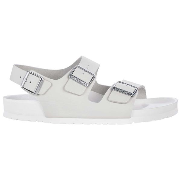 BIRKENSTOCK Milano White Natural Leather Exquisite Outlet Store