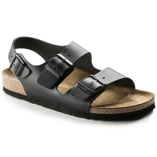 BIRKENSTOCK Milano Black Smooth Leather Outlet Store