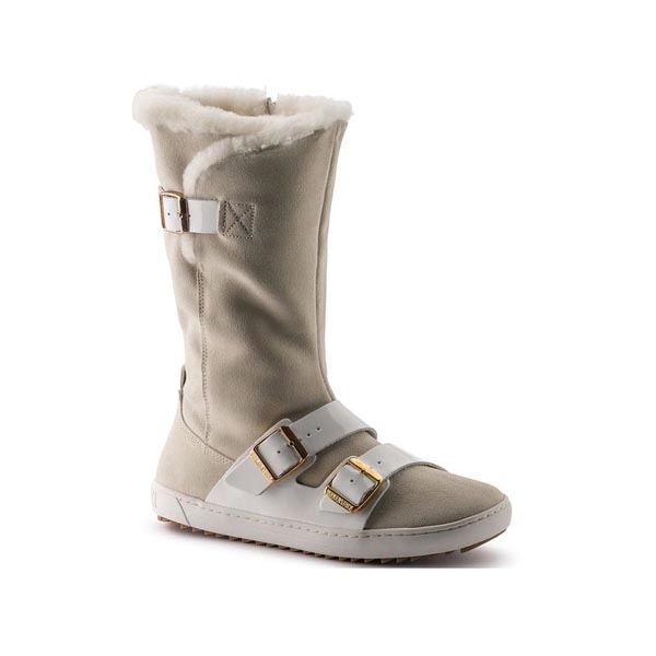 BIRKENSTOCK Danbury White Shearling/Suede Outlet Store