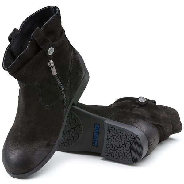 BIRKENSTOCK Sarnia Black Waxed Suede Outlet Store
