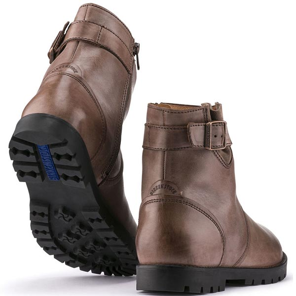 BIRKENSTOCK Stowe Dark Brown Leather Outlet Store