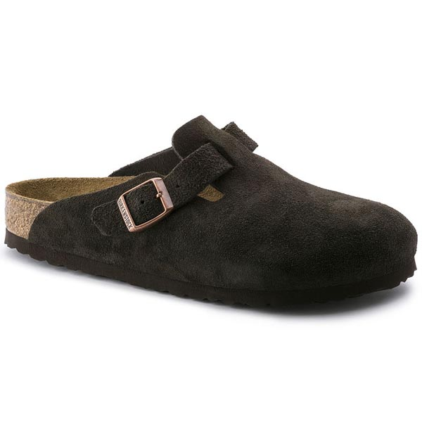 BIRKENSTOCK Boston Mocha Suede Outlet Store