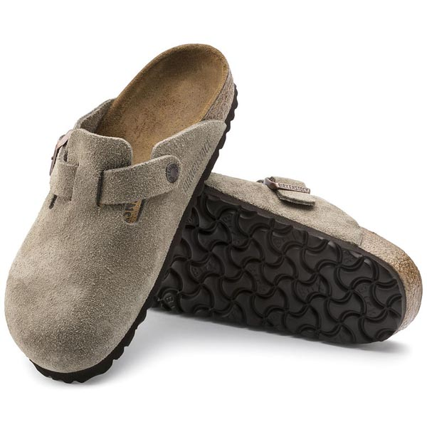 BIRKENSTOCK Boston Taupe Suede Outlet Store