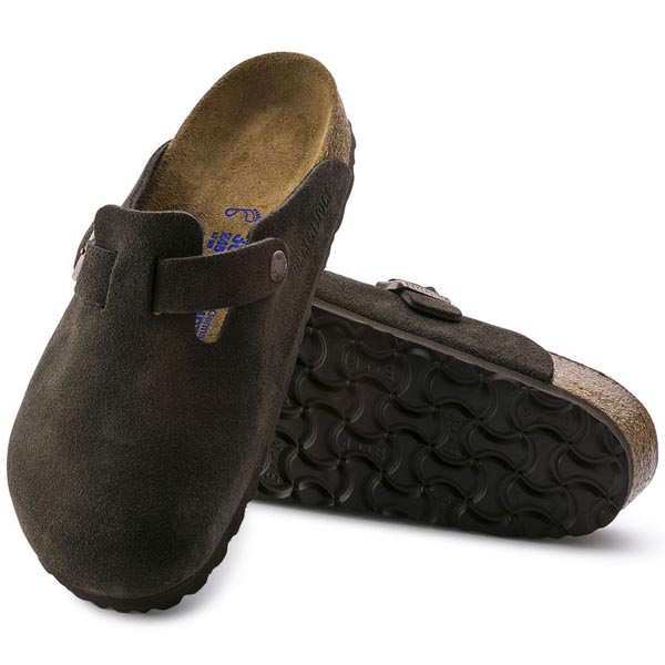 BIRKENSTOCK Boston Soft Footbed Mocha Suede Outlet Store