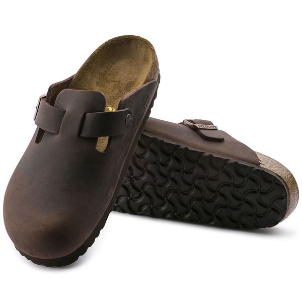 BIRKENSTOCK Boston Habana Oiled Leather Outlet Store